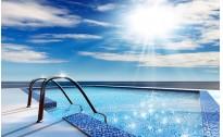 无边际海边游泳池